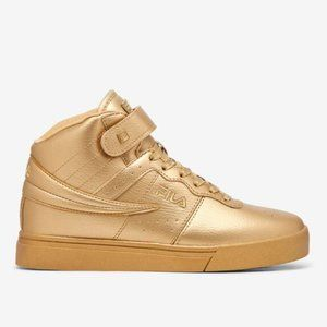 Fila Vulc 13 Metallic Gold High Top Sneakers